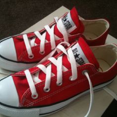 My new Converse RED trainers