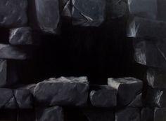 Z serii - Fasady, akryl na płycie / Series - Facades, acrylic on board / 50x70 cm, 2013 / http://pawgalmal.blogspot.com