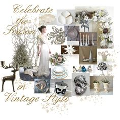 Celebrate the Season by vintageandmain on Polyvore featuring interior, interiors, interior design, home, home decor, interior decorating, Aynsley, Royal Worcester, Birks and WMF