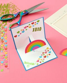 R Is For Rainbow Pop Up Card Template From Canon Creative Park At
