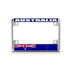 License Plate Frame Mall - AUSTRALIA Flag Metal Motorcycle Bike License Plate Frame Tag Border, $15.99 (http://licenseplateframemall.com/australia-flag-metal-motorcycle-bike-license-plate-frame-tag-border/)