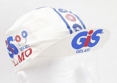 RARE & ORIGINAL GIS GELATI OLMO VINTAGE CYCLING TEAM JERSEY CAP HAT EROICA