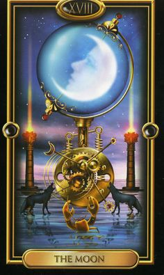 18. The Moon  - Tarot Gilded
