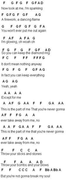 Flute Sheet Music: Part of Me