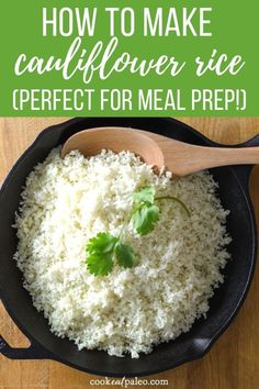 How to make cauliflower rice the easy way. This delicious low carb rice swap is so simple. Keto paleo cauliflower rice works in favorite side dish recipes. Quick Side Dishes, Low Carb Side Dishes, Side Dish Recipes, Rice Recipes, Paleo Recipes, Recipies, Paleo Cauliflower Rice, How To Make Cauliflower, Califlower Rice