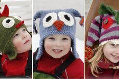 15 Patrons gratuits et en français de chapeaux pour enfants à faire au tricot ou au crochet!