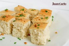 The Focaccia is a sacred and ancient flatbread of Roman Christians that quickly became popular to different parts of the world. Similar to Juan Carlo's Garlic and basil focacia, it is golden brown, shiny, crispy, and full of flavor. Golden Brown, Christians, Feta, Basil, Choices, Roman, Garlic, Cheese, Popular