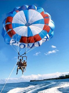 On the list of top things to do in Maui: See Ka'anapali From the Air With UFO Parasail (Hawaii). Thanks for talking me into it Alyssa :) Honeymoon Vacations, Hawaii Honeymoon, Aloha Hawaii, Visit Hawaii, Family Vacations, Hawaii Wedding, Trip To Maui, Hawaii Vacation, Beach Trip