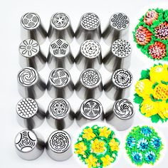 18Pcs DIY Flower Pastry Cake Icing Piping