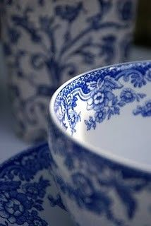 Cobalt blue china pattern.  You can't have too many blue & white dishes.