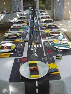 table decor #PinzzaParty                                                                                                                                                     More