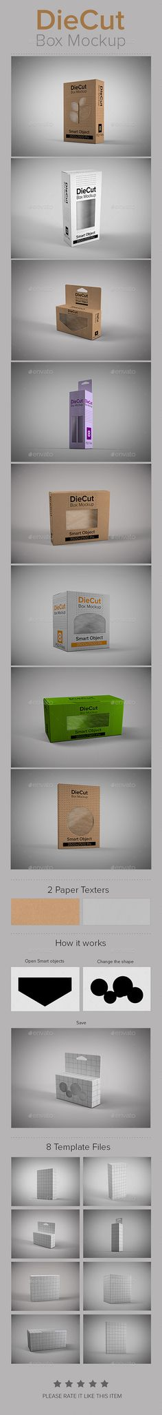DieCut Box Mockup | #boxmockup | Download: http://graphicriver.net/item/diecut-box-mockup/9083428?ref=ksioks