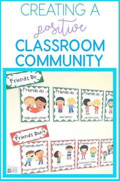 Building a positive classroom community helps create an environment where children feel welcomed and supported. These FREE friendship posters make a great classroom display while teaching your kindergarten or first grade students about friendly behaviors. Classroom Expectations, Classroom Behavior, Classroom Environment, Classroom Posters, Classroom Displays, Classroom Setting, Classroom Decor, First Grade Classroom, Kindergarten Classroom Rules