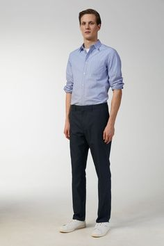 Standard Lightweight Chinos - Blue - Trousers - ARKET GB