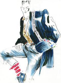 80's fashion illustration for dutch VINYL magazine by Robert Wagt #robertwagt
