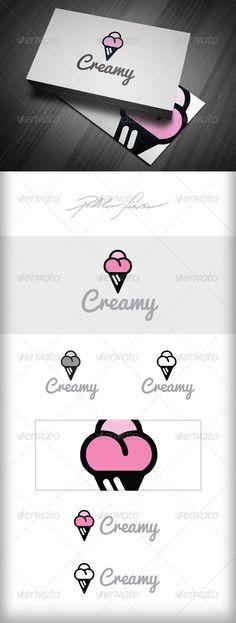 Ice Cream Shop Logo - Creme Glacee Logo