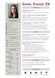 Sanna Paajoki - CV / ansioluettelo