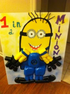 """Minion """"gallon man"""" character for classroom! Teaches children measurements that equal one gallon."""