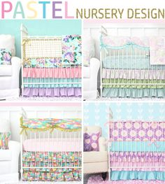 Pastel Baby Bedding in all of the most popular colors. Caden Lane has the most amazing baby bedding for a Pastel Nursery Design.