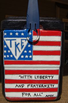 No quote frat cooler life liberty and the pursuit of fratiness Fraternity Crafts, Fraternity Coolers, Frat Coolers, Formal Cooler Ideas, Bubba Keg, Coolest Cooler, Goodbye Gifts, Ice Cooler, Alpha Xi Delta