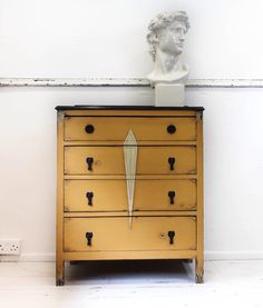 SOLD SOLD SOLD Art Deco Style Oak Vintage Chest of Drawers Hand Painted in Annie Sloan's Arles Shabby by ShabbyEleganceUK on Etsy https://www.etsy.com/listing/238645691/sold-sold-sold-art-deco-style-oak
