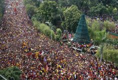 In Manila: Roman Catholic devotees take part in the annual Black Nazarene procession