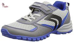 Geox J Bernie C, Sneakers Basses Garçon, Bleu (Royal C4011), 39 EU