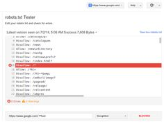 Saharanpur, Testing robots.txt files made easier with the help of Google Webmaster at http://goo.gl/SpGuk7