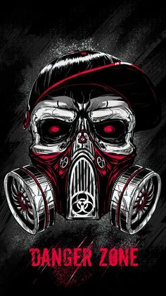 Skull Toxic Mask iPhone Wallpaper - iPhone Wallpapers