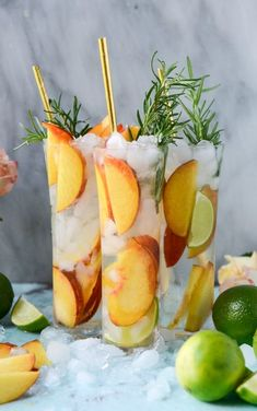 Who isn't in need of a peachy refreshing cocktail for the I'm a brand new gin and tonic lovah. Brand new! As in, maybe a few months? Fresh Peach Gin and Tonic. - How Sweet Eats Refreshing Cocktails, Summer Drinks, Cocktail Drinks, Cocktail Recipes, Colorful Cocktails, Tonic Cocktails, Cucumber Cocktail, Sangria Bar, Sweet Cocktails