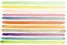 Watercolor Stripes - Wall Mural & Photo Wallpaper - Photowall