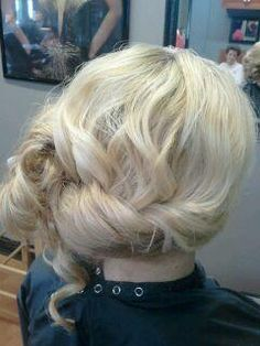 side updo formal style wedding prom hair