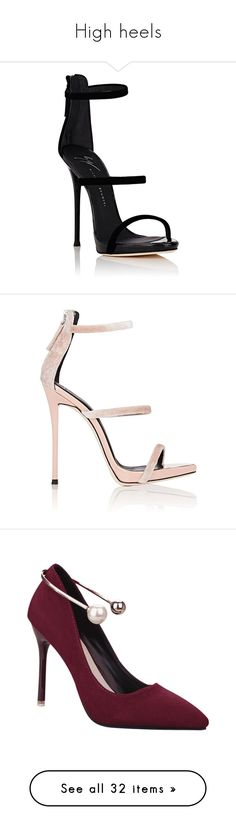 """High heels"" by polariodofus ❤ liked on Polyvore featuring shoes, sandals, ankle strap sandals, ankle tie sandals, ankle strap high heel sandals, stiletto sandals, ankle strap shoes, giuseppe zanotti sandals, light pink sandals and high heel platform sandals"