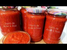 Pastă de ardei kapia cu roșii , pentru iarnă - YouTube Pasta, Dolls, Youtube, Recipes, Food, Preserves, Jelly, Baby Dolls, Puppet