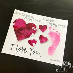 This easy Valentine footprint craft is perfect for your toddlers and early learners. Download your free printable to DIY at home or in the classroom. These watercolor hearts that are finger-painted without the mess, along with an ink pad footprint, make a heartfelt keepsake.