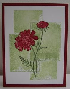 Blocked Field Flowers - by Loll Thompson - Cards and Paper Crafts at Splitcoaststampers Cool Cards, Diy Cards, Card Making Inspiration, Making Ideas, Scrapbook Cards, Scrapbooking, Sympathy Cards, Greeting Cards, Card Making Techniques