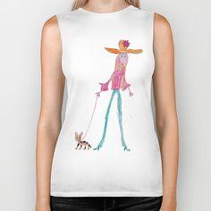 Lady with dog Biker Tank by azima Graphic Tank, Biker, Tank Tops, Lady, Dogs, Stuff To Buy, Women, Fashion, Moda