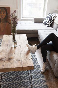 hairpin coffee table | carroll gardens apartment | designsponge