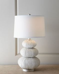 """""""Stacked Sea Urchin"""" Lamp by Regina-Andrew Design at Horchow. 14""""Dia. x 27""""T; shade is 9.5""""T"""