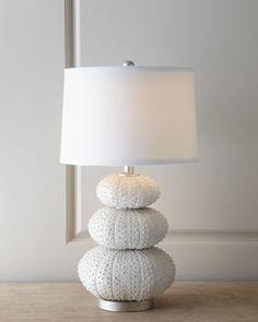 """Stacked Sea Urchin"" Lamp fits the beachy, coastal decor perfectly"