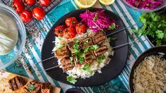 Family Food Fight: The Samadi's Lamb Kebabs with Rice and Pickled Cabbage Lamb Recipes, Healthy Recipes, Lamb Kebabs, Pickled Cabbage, Lamb Ribs, Shawarma, Family Meals, Rice, Yummy Food