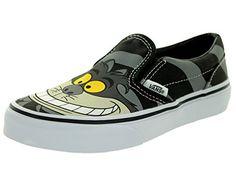 7796f23001f5  ad  disney  Vans VANS KIDS K CLASSIC SLIP-ON CHESHIRE CAT BLACK