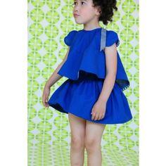 bodebo double layer skirt - blue