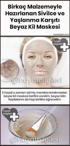 Birkaç Malzemeyle Kolayca Hazırlanan #Sivilce ve Yaşlanma Karşıtı Beyaz Kil Maskesi Evde, birkaç basit malzemeyle kolayca hazırlayabileceğiniz bu maskeyi düzenli olarak kullandığınızda elde edeceğiniz faydaları öğrenince şaşıracak, hemen denemek isteyeceksiniz eminiz. #kilmaskesi #ciltbakımı #güzellik #masketarifi