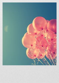 I absolutely love balloons. Their so fun and festive. All full of air floating like a cloud...<3