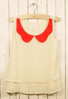 Color Palette Sheer Top $29.90 I want this to wear to my next Springfield Cardinals game!