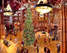 So excited to see the Wilderness Lodge at Christmastime!!!!