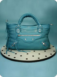 Blue Balenciaga bag