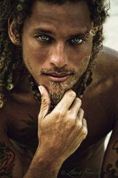 Sexy Black Men With Blue Eyes | sexy man #mulatto #clear blue green eyes zomg #dreadlocks
