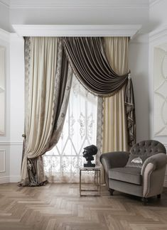 Super Home Interior Pictures Window 36 Ideas Curtain Styles, Curtain Designs, Home Curtains, Curtains With Blinds, Window Drapes, Interior Design Pictures, Beautiful Curtains, Custom Drapes, Furniture For You